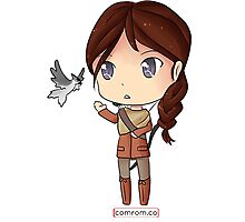 Katniss Everdeen Chibi by KlockworkKat Photographic Print