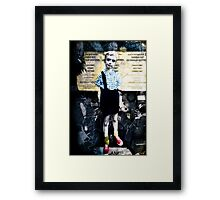 Boy with Hand Grenade Framed Print