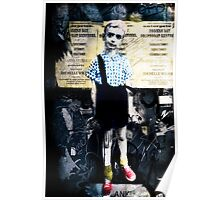 Boy with Hand Grenade Poster