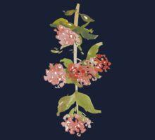 Pink Watercolor Garden Flowers Kids Tee
