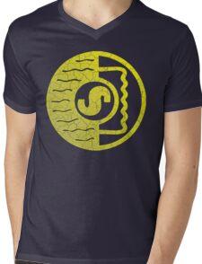 Vintage Shure Logo Mens V-Neck T-Shirt