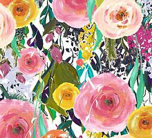 Pretty Watercolor Garden Floral by pencreations