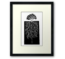 Ive traveled the earth. The only truth Ive found: The lake invented the mirror and the sun works underground Framed Print