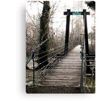 swinging bridge Canvas Print