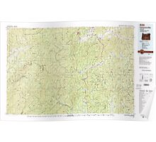 USGS Topo Map Oregon Canyonville 283061 1989 100000 Poster