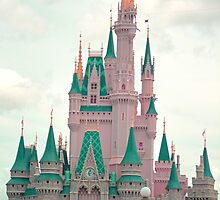 Pink & Teal Castle by leabostwick