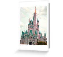 Pink & Teal Castle Greeting Card