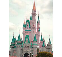 Pink & Teal Castle Photographic Print