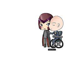Mutant and Proud: Magneto and Professor Xavier Chibis by Klockworkkat Photographic Print