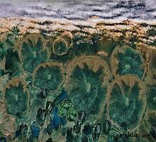"""""""Green Flowers"""" - Abstract Realism by Patrice Baldwin"""