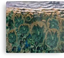 """Green Flowers"" - Abstract Realism Metal Print"