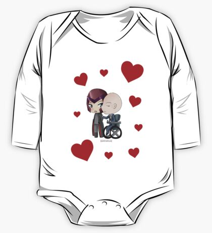 Mutant and Proud: Magneto and Professor Xavier Chibis by Klockworkkat One Piece - Long Sleeve
