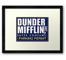 Dunder Mifflin - Parking Permit Framed Print