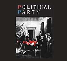 Political Party Throw pillows & totes (red solo solos, shades, beer pong) shirt also available  by francypant