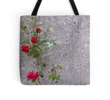 Red Roses On Grey Tote Bag