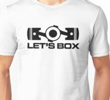 Lets Box - Subaru Boxer engine (White) Unisex T-Shirt