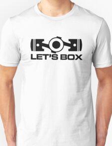 Lets Box - Subaru Boxer engine (White) T-Shirt