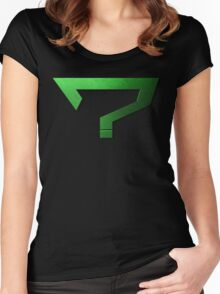 Riddler's Question Mark Women's Fitted Scoop T-Shirt