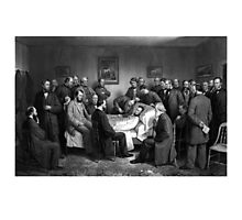 President Abraham Lincoln On His Deathbed Photographic Print
