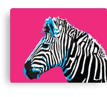 Zebra Typography Canvas Print