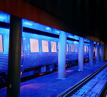 Blue Train by baldockcreative