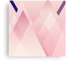 Pink Layered Triangles Canvas Print