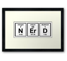NERD ELEMENTS Framed Print