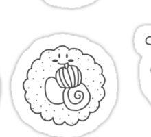 sushi white Sticker