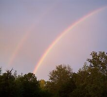 double rainbow by Gina Tibitts