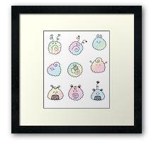sushi rainbow Framed Print