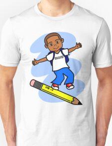 Boy Surfing on Pencil T-Shirt