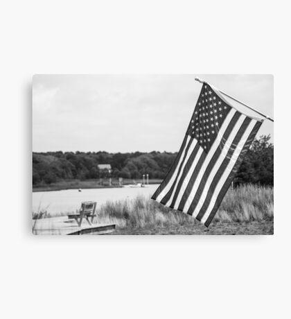 American Flag- Summer in B&W Canvas Print