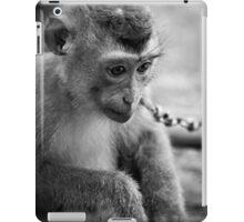 waiting monkey (black & white) iPad Case/Skin