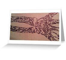 Tribal Wrist Xray Greeting Card