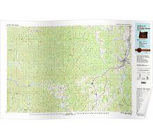 USGS Topo Map Oregon Cottage Grove 283069 1979 100000 Poster