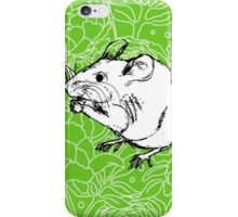 Mouse on Floral Background-Apple Green iPhone Case/Skin