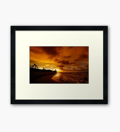 The Path of Gold Framed Print