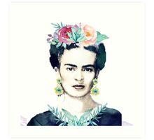 Watercolor Frida Kahlo  Art Print