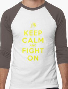 Keep Calm and Fight On (Gold Letters) Men's Baseball ¾ T-Shirt