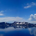 CRATER LAKE OREGON  PANORAMA by Joe Powell