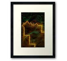 Ink and light glowing abstract Framed Print