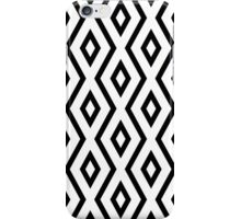 Black and White Diamond Pattern iPhone Case/Skin