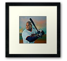 Barry Bonds painting Framed Print