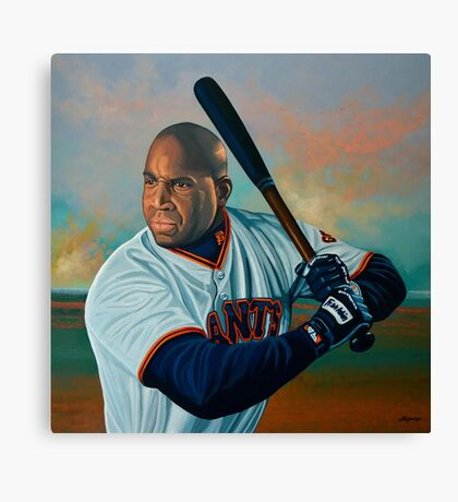 Barry Bonds painting Canvas Print