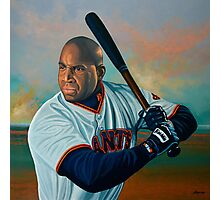 Barry Bonds painting Photographic Print
