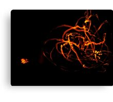 Red hot fire fountain Canvas Print
