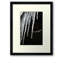 Icicles at Night- Wonder Lake, IL Framed Print