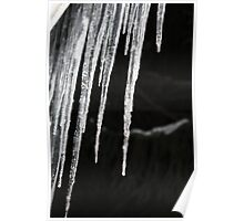 Icicles at Night- Wonder Lake, IL Poster