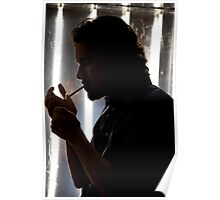 The silhouette of a smoker Poster