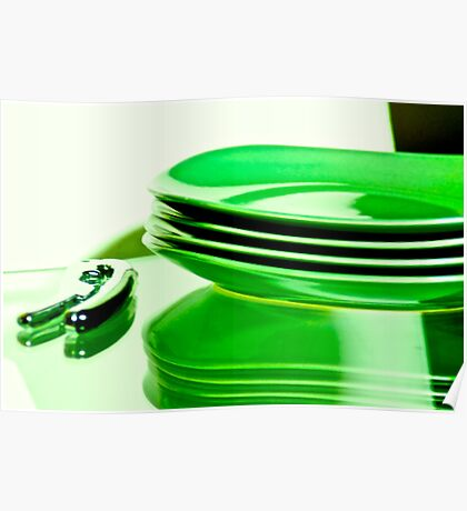 Manmade green for dine table...Got 4 Featured Works Poster